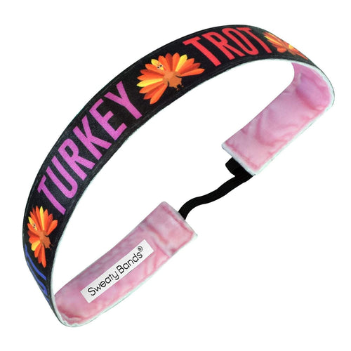Thanksgiving | Turkey Trot | Black | 1 Inch Sweaty Bands