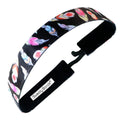Tickled Pink | Black | 1 Inch Sweaty Bands Non Slip Headband