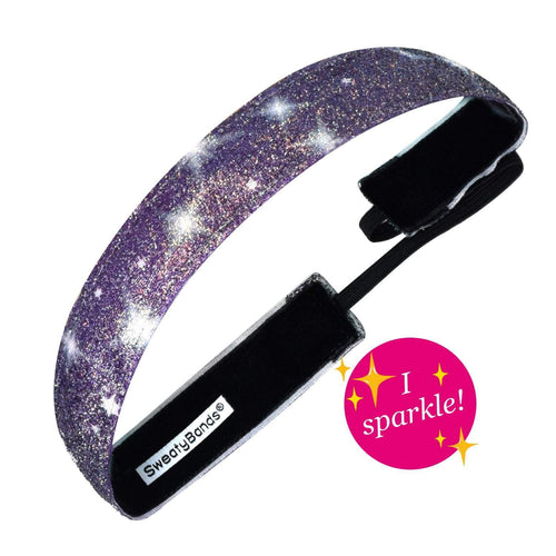 Viva Diva Galaxy Black, Purple Sweaty Bands Non Slip Headband