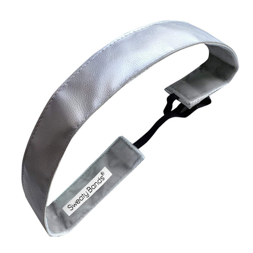 Whip Me Into Shape | Silver | 1 Inch Sweaty Bands Non Slip Headband
