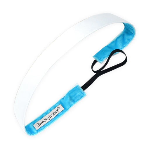 Wicked Exclusive 5/8 Inch White Sweaty Bands Non Slip Headband