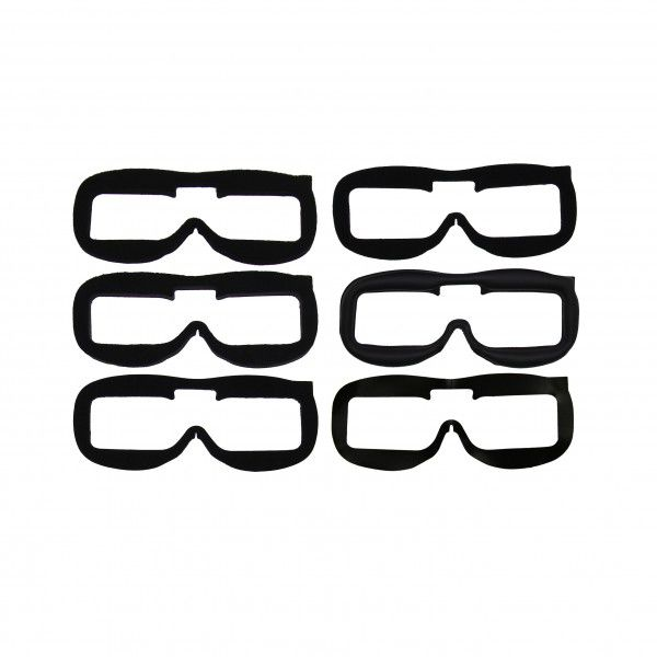 Fat Shark Ultimate Fit Kit Goggle Face Pads - 6pc Set (Dominator, Attitude)