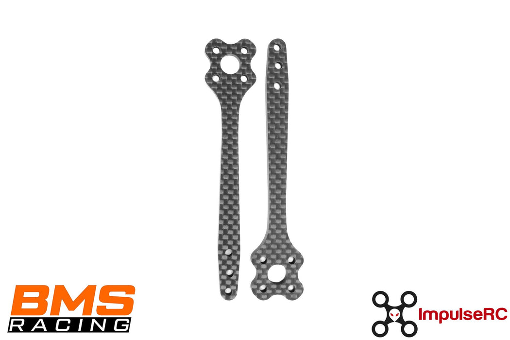 ImpulseRC BMS Racing JS-1 Frame 5in Carbon Fiber Arms - 2pc Set