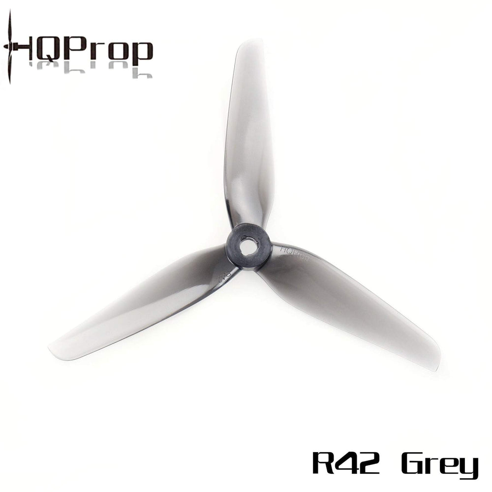 HQProp R42 Gray 5.1x4.2x3 POPO 5in Tri-Blade Propellers - 4pc Set