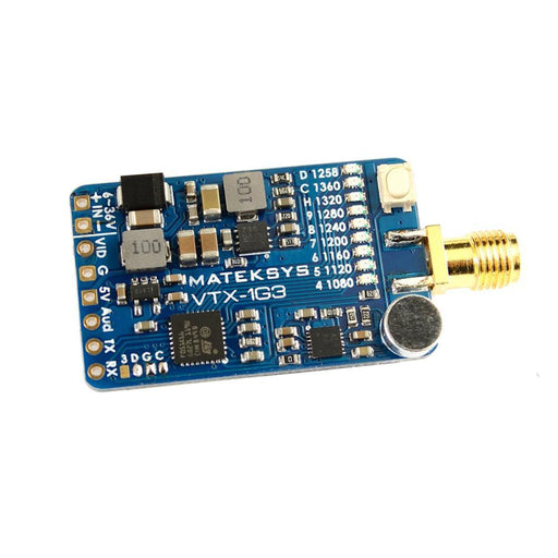 Matek VTX-1G3 1.3G 2CH 630MW SMA Video Transmitter (VTX)