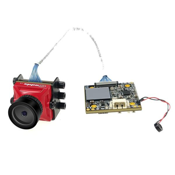Caddx Turtle V2 Turbo Eye 1.8mm 800TVL FPV Drone Camera - Red - Board Attached