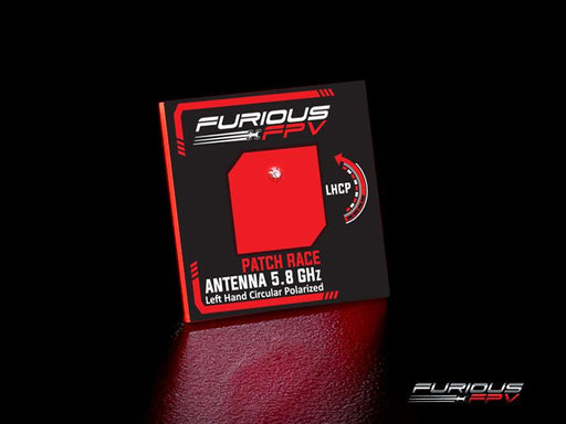 FuriousFPV Feather Race 5.8G LHCP SMA Patch FPV Goggle Antenna - Front