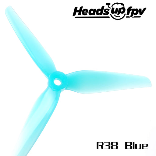 HQProp HeadsUp Racing Blue 5.1in 3-Blade Drone Propellers - 2
