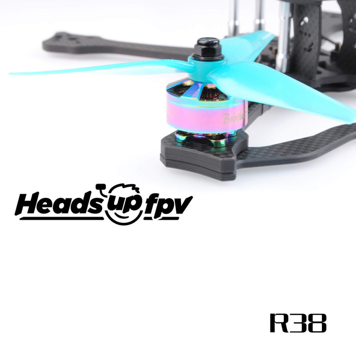 HQProp HeadsUp Racing Blue 5.1in 3-Blade Drone Propellers - 3