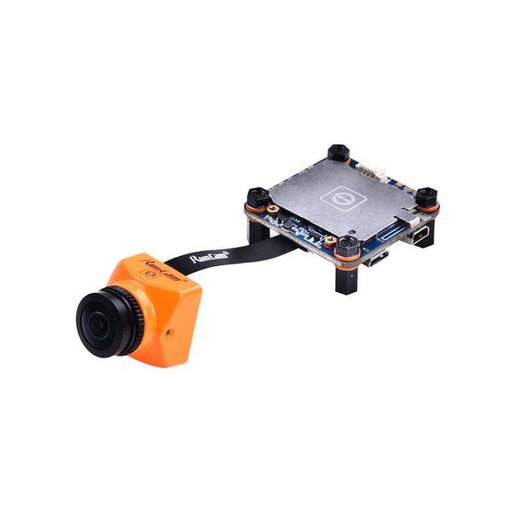 RunCam Split 2S 1080p 60fps HD DVR FPV Drone Camera - Orange - Mounted