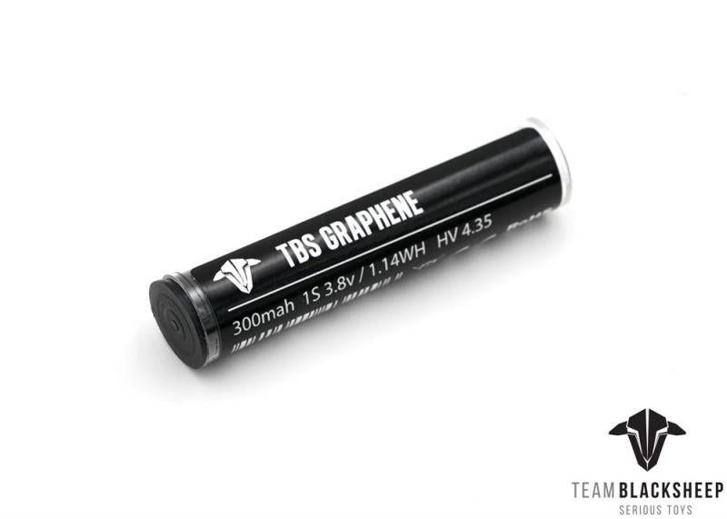 TBS Graphene 300mAh 1s 4.35HV 30C LiPo Battery - Tube