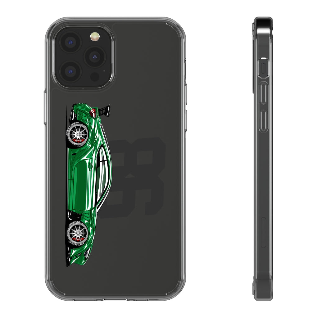 Green GT86 / BRZ / Scion FR-S - Clear Cases for iPhone 12 & 12 Pro
