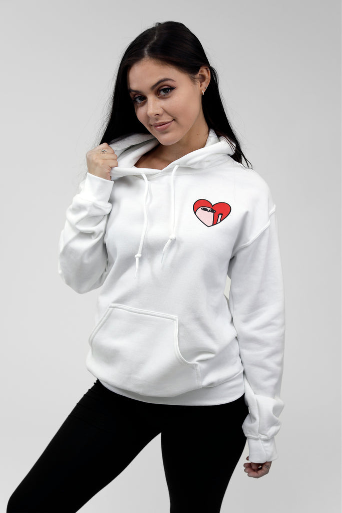 Kind Comments Heart - White Hoodie