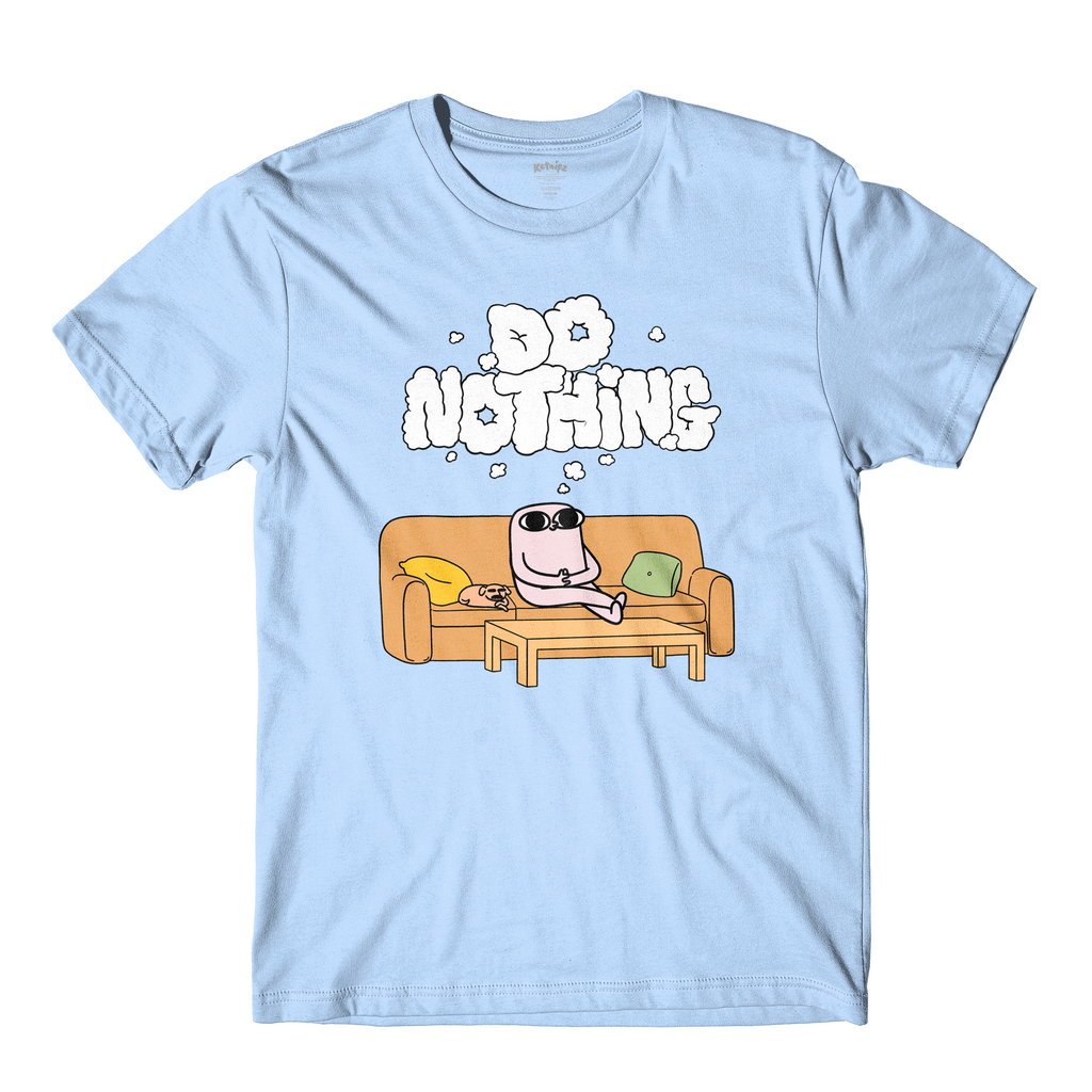 Do Nothing Light Blue Tee