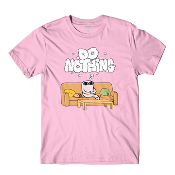 Do Nothing Light Pink Tee