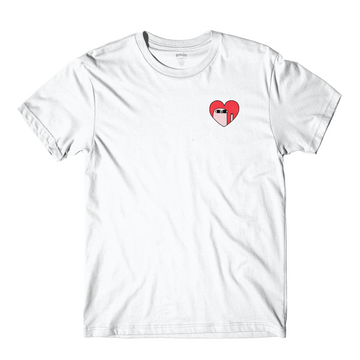 Kind Comments Heart - White Tee
