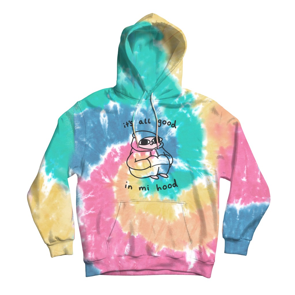 Good In Mi Hood - Multi-Color Tie Dye Hoodie