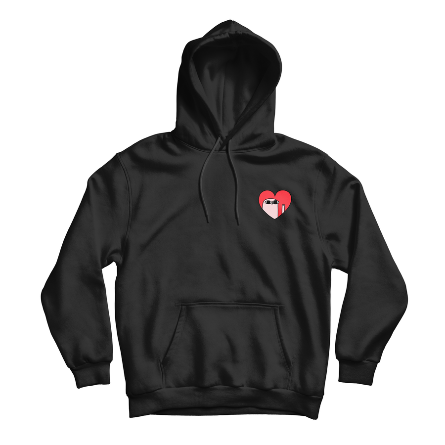 Kind Comments Heart - Black Hoodie