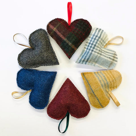 Tweed Heart Accessories