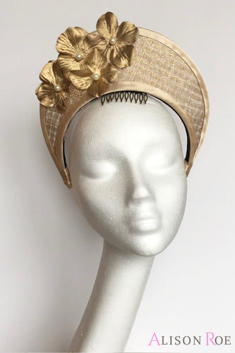Gold headpiece crown to hire