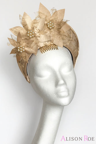 Gold crown headpiece to hire