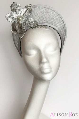 Silver crown headpiece to hire - Tipperary Hat Hire