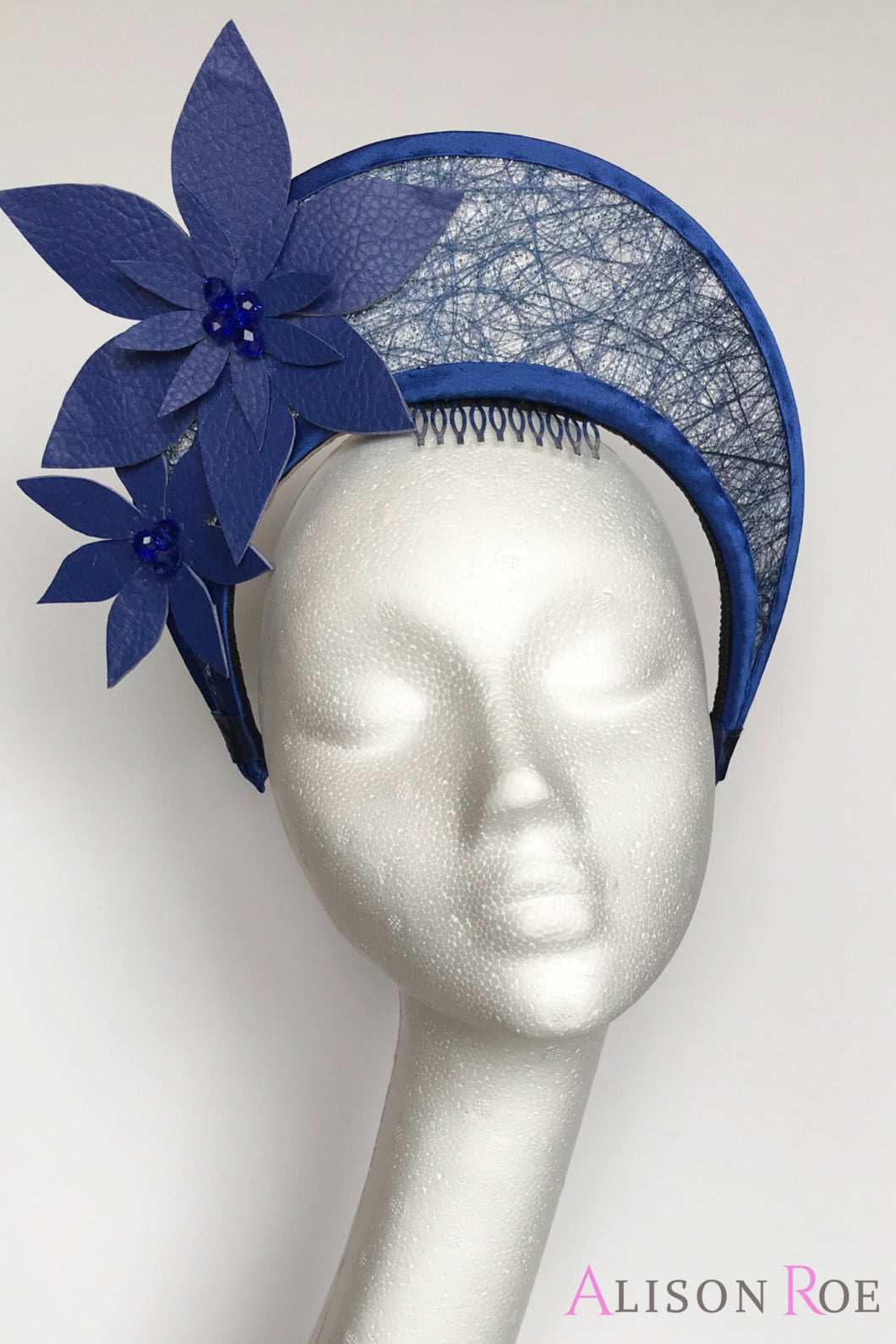 Blue crown headpiece to hire