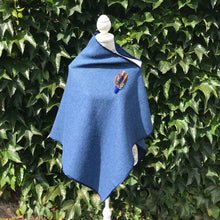 Blue tweed cape