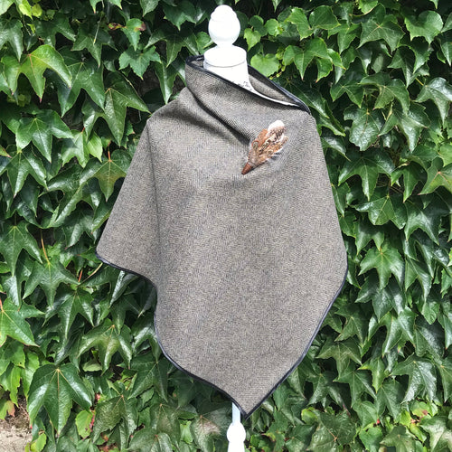 Brown tweed cape