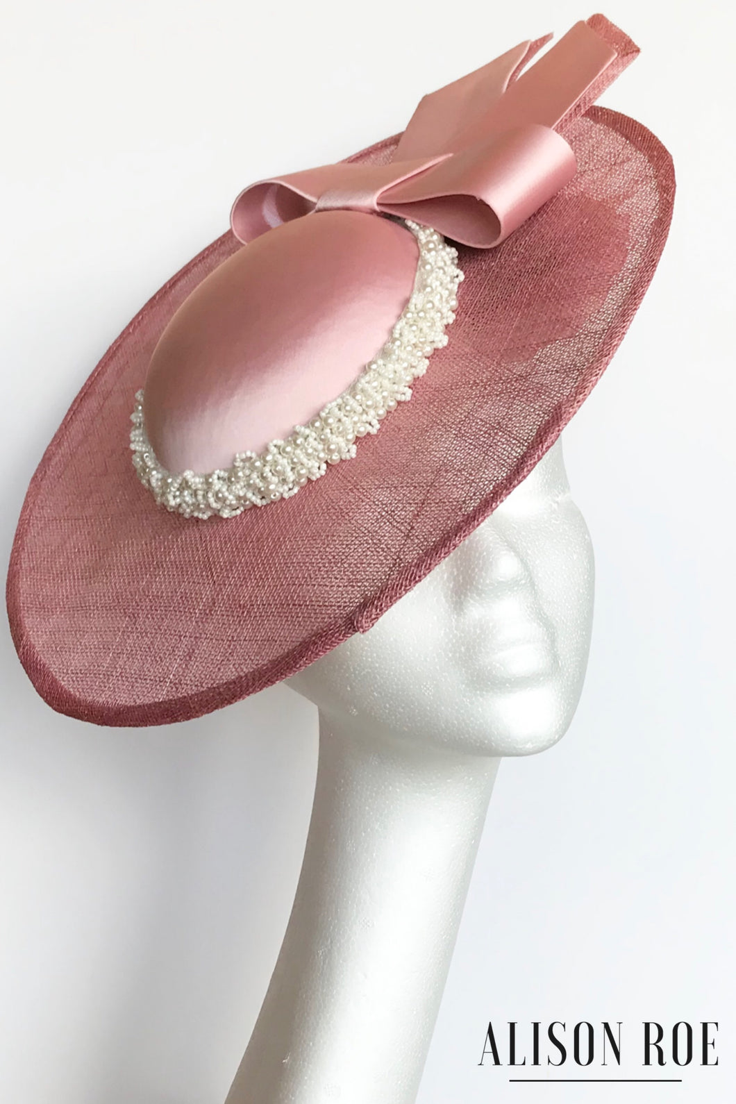 C52 - Large Blush Pink Hat for Hire