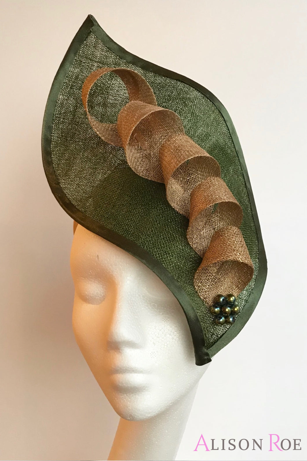 Bottle green hat for hire