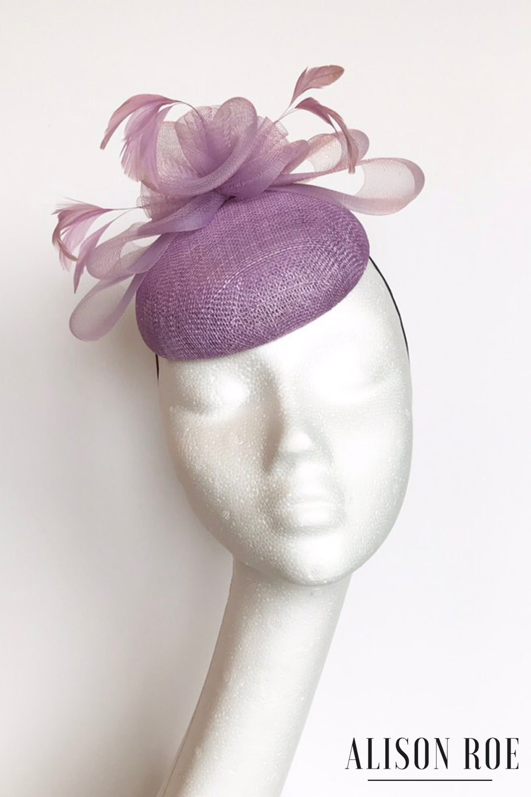 Lilac headpiece to hire