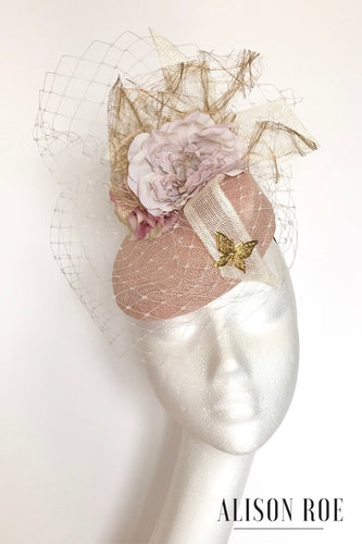 Jane headpiece in blush and ivory