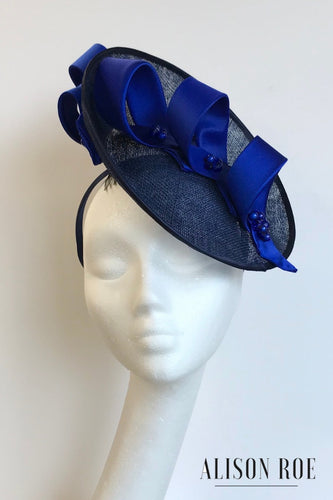 (BN29) Navy & Royal Blue Headpiece for Hire