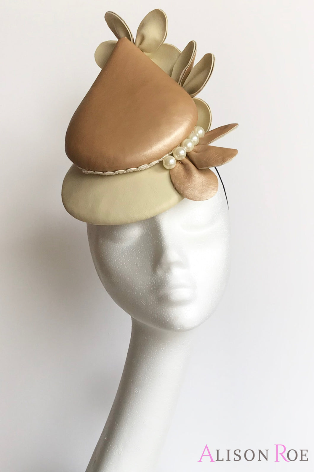 Gold percher hat for hire