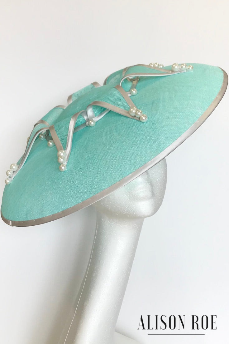Mint large brimmed hat