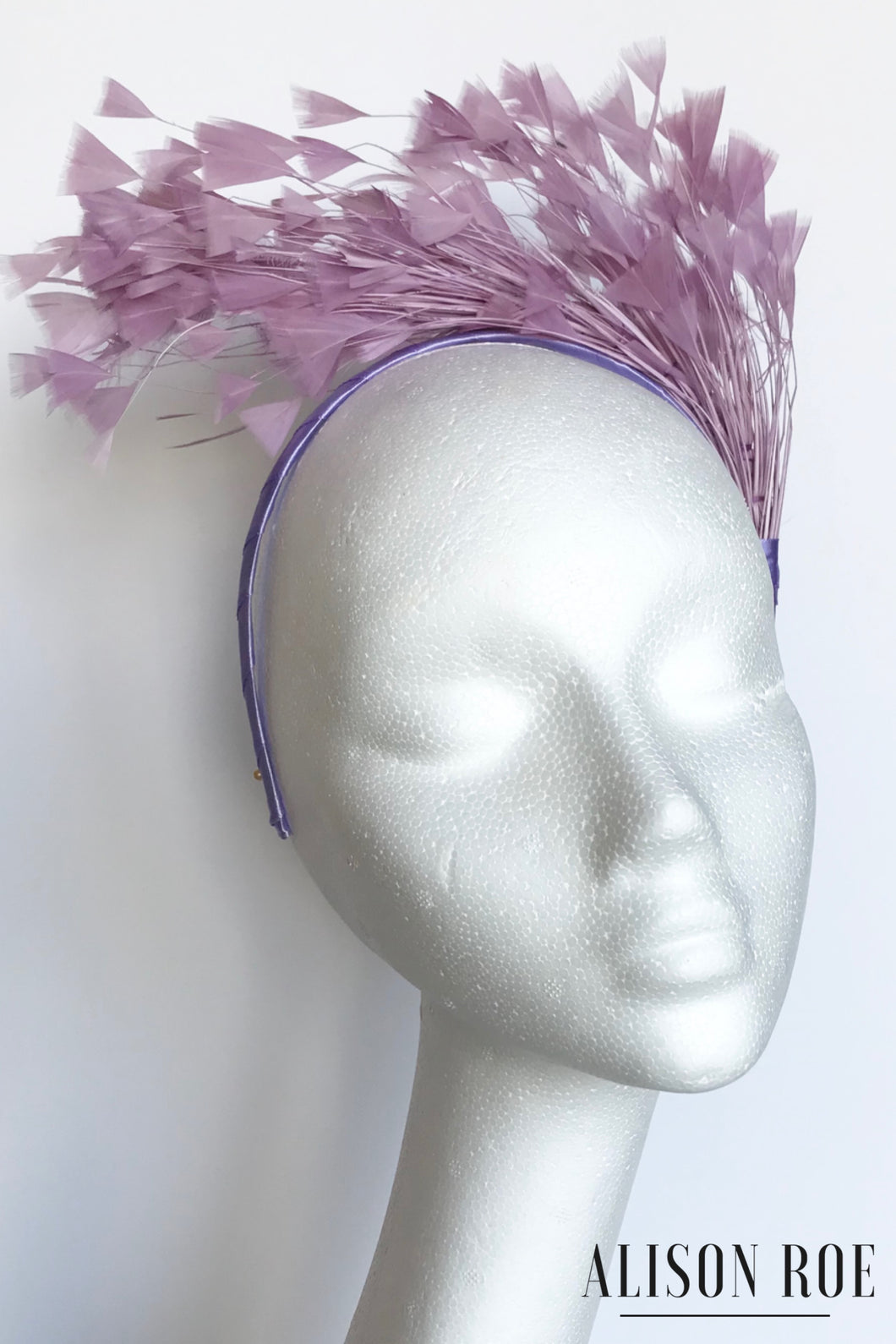 A44 - Lilac Feather Headband for Hire