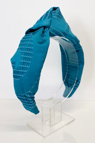 Blue teal handmade hairband