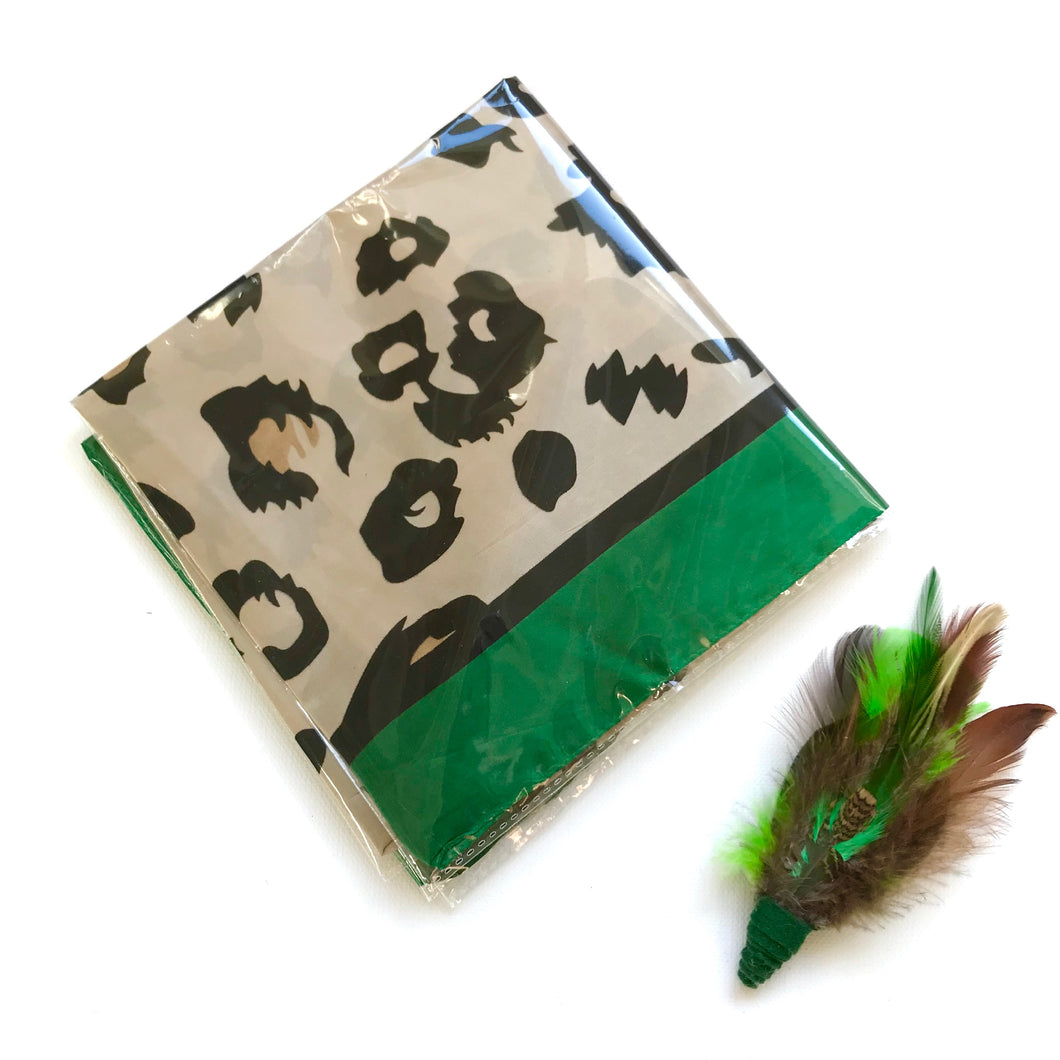 Animal Print Scarf - Green