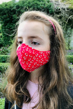 Child Fabric Face Mask - Hearts