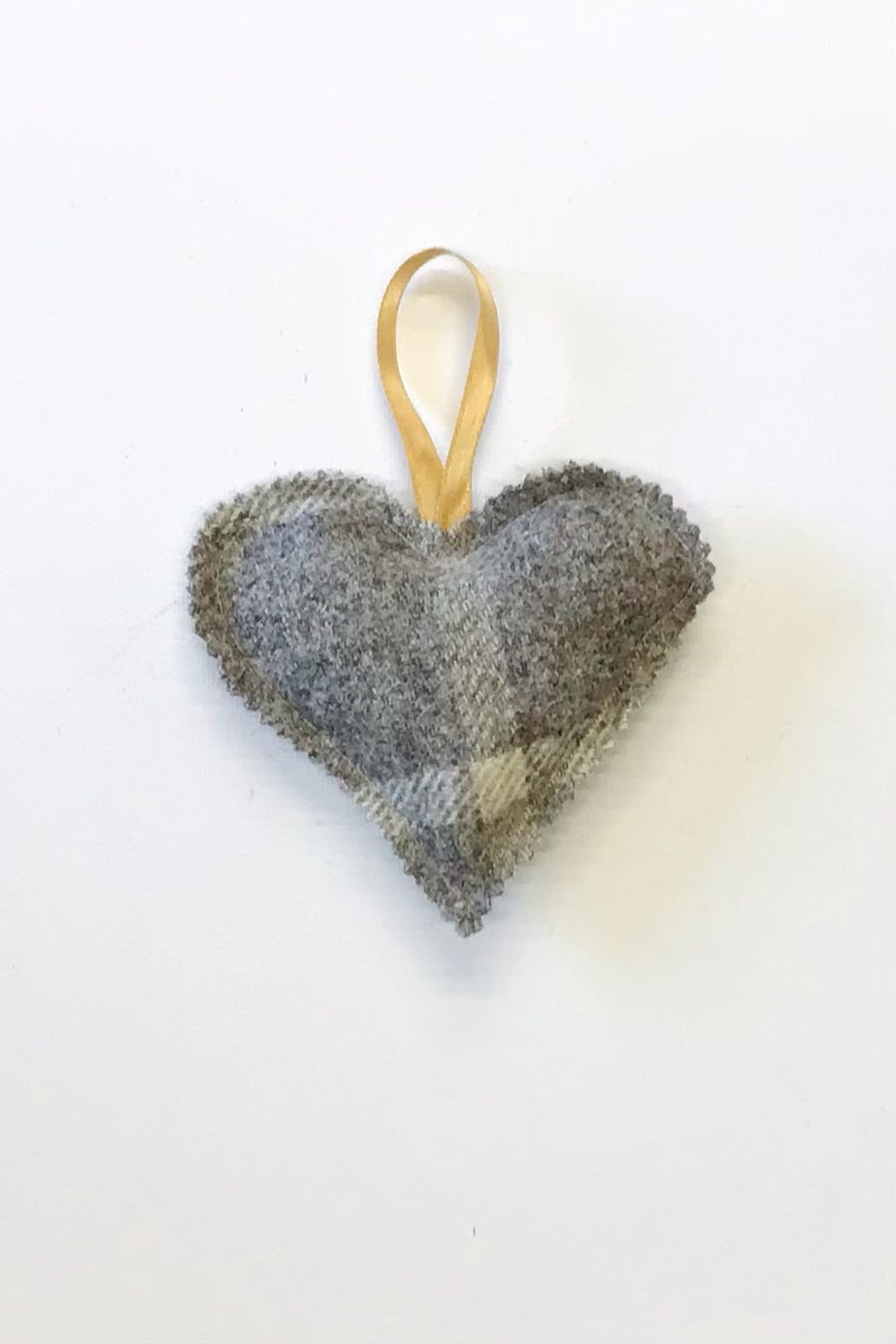 Tweed heart decoration