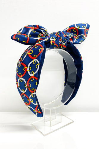 Italian print silk hairband
