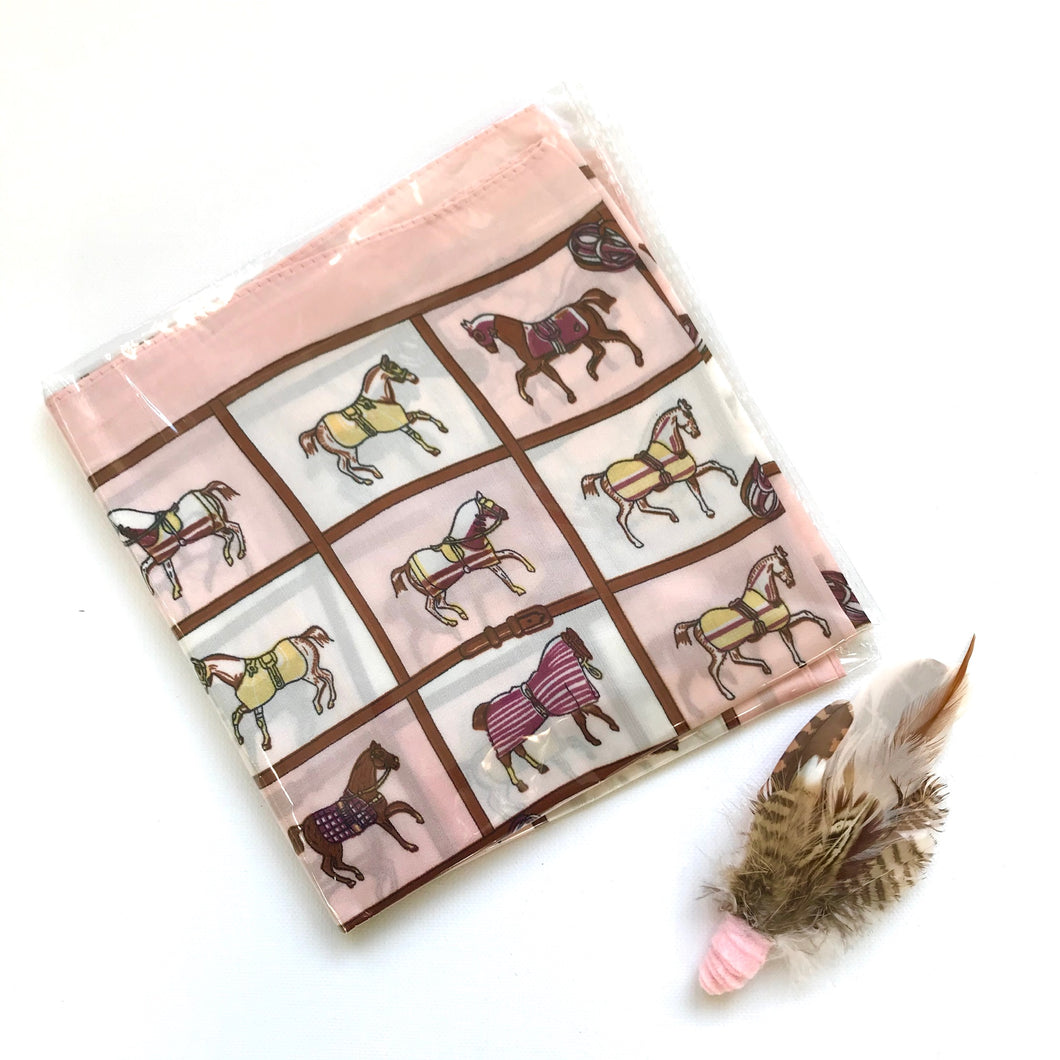 Horse Scarf - Pink