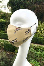Adult Fabric Face Mask - Horses (Beige)