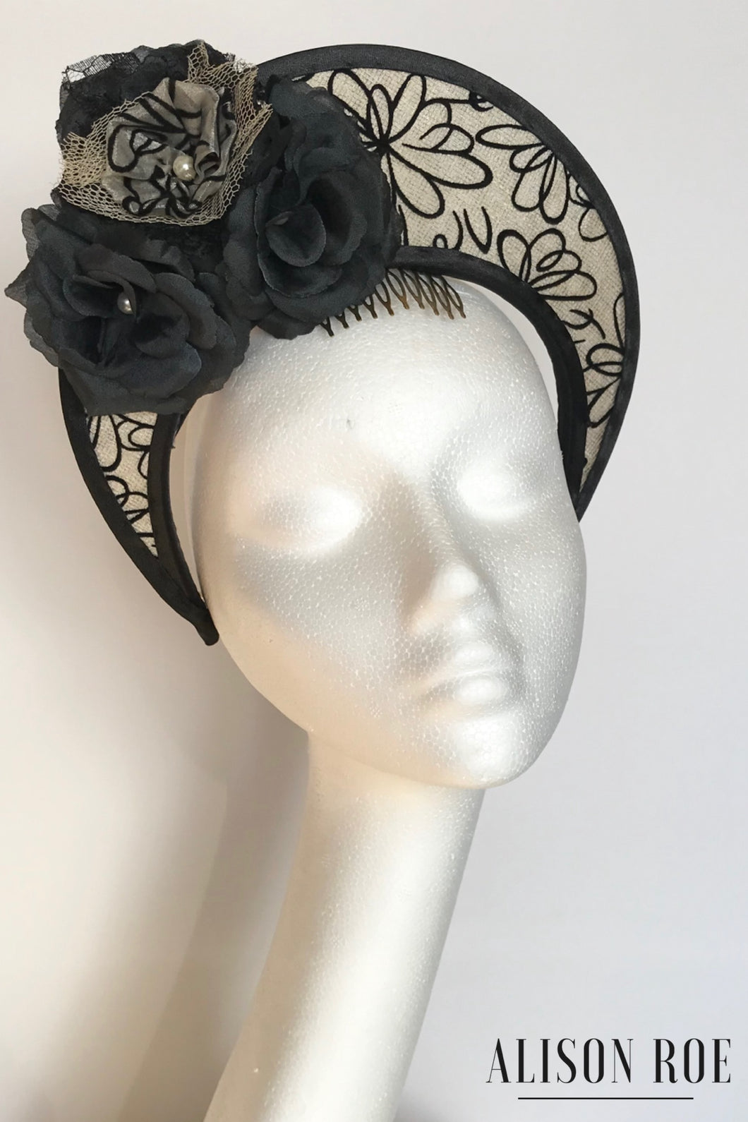 black halo crown headpiece for hire