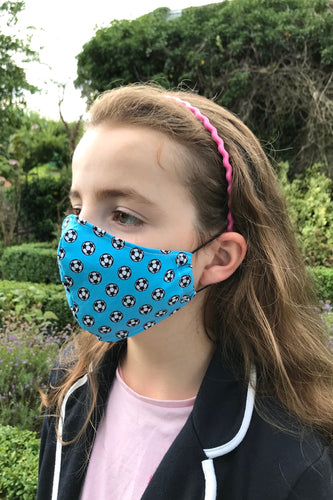 Child Fabric Face Mask - Football