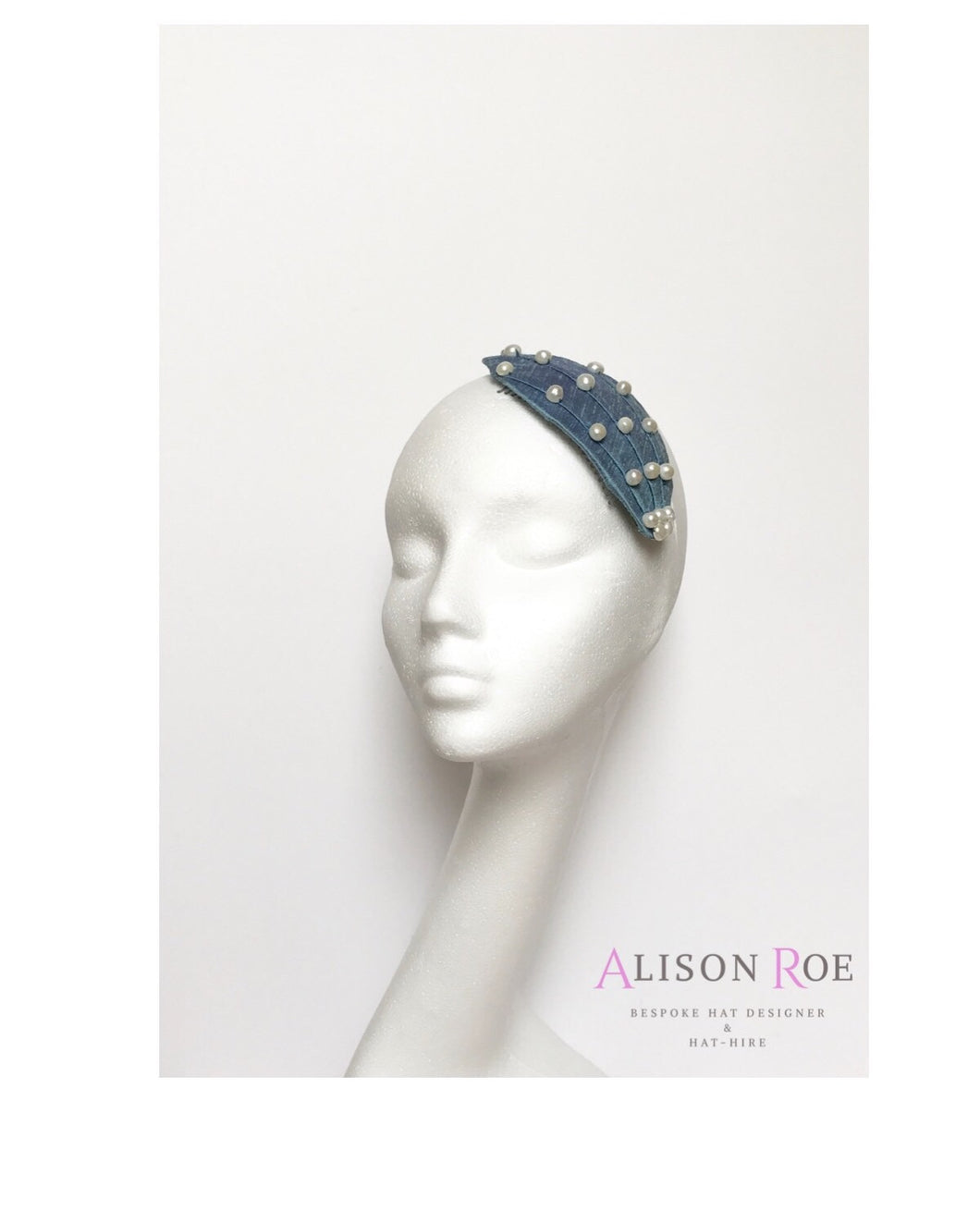 Blue designer wedding & bridal headpiece