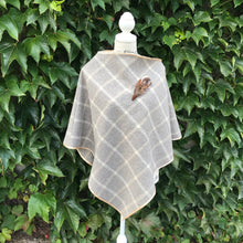 Tweed Check Cape - Beige