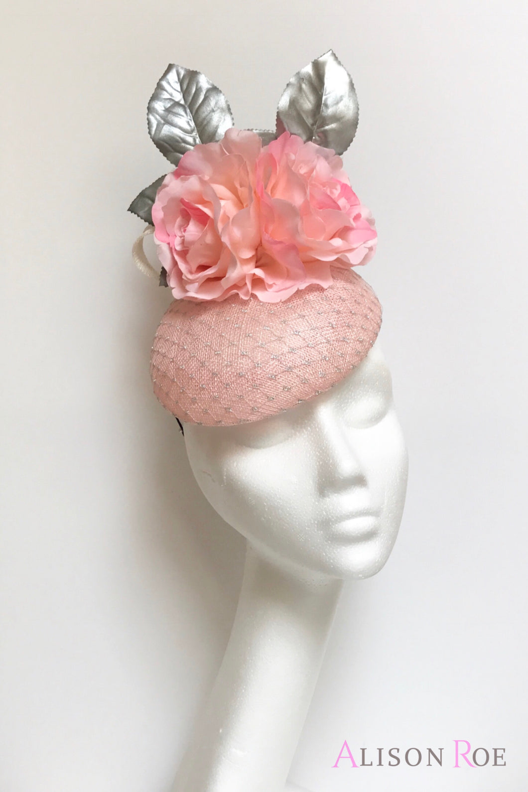 pink and silver hat to hire