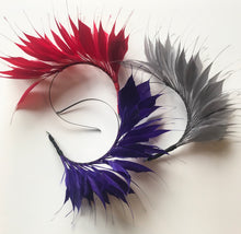 (SG3) Grey Feather Crown Headpiece for Hire
